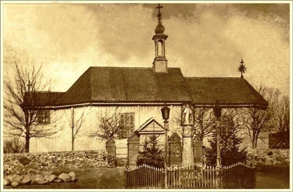 Kościół sprzed pożaru w 1911 roku