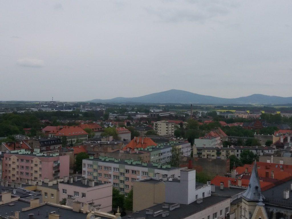 Świdnica, widok z wieży ratuszowej