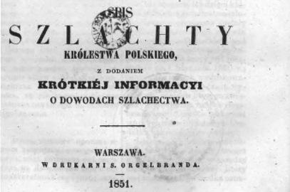 Spis szlachty Królestwa Polskiego 1851